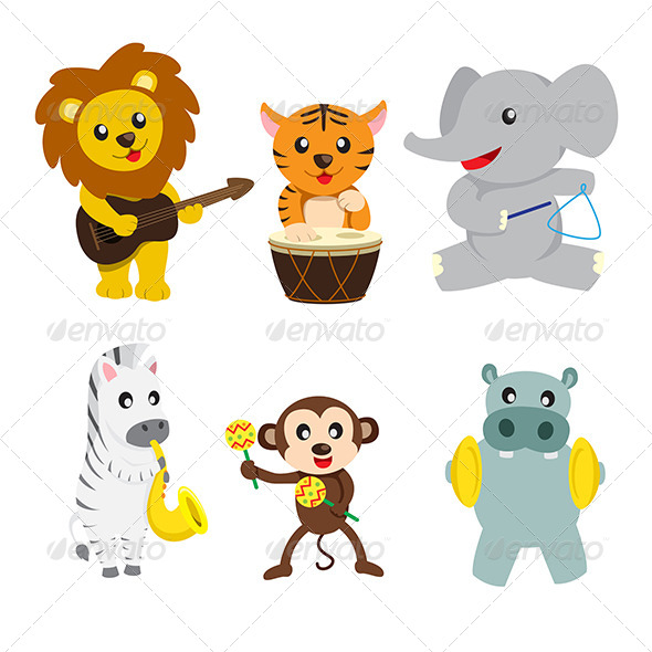 Animals Playing Music - Animals Characters