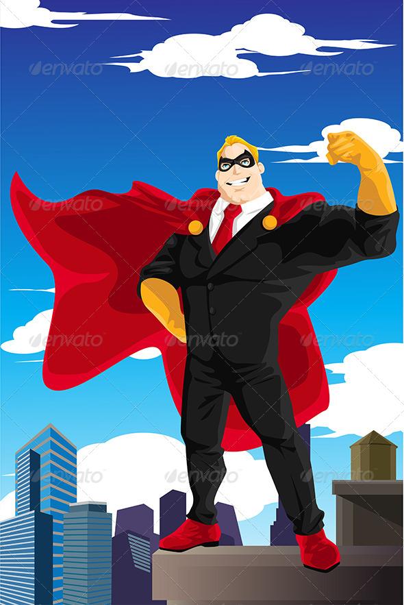 Superhero Businessman - Concepts Business