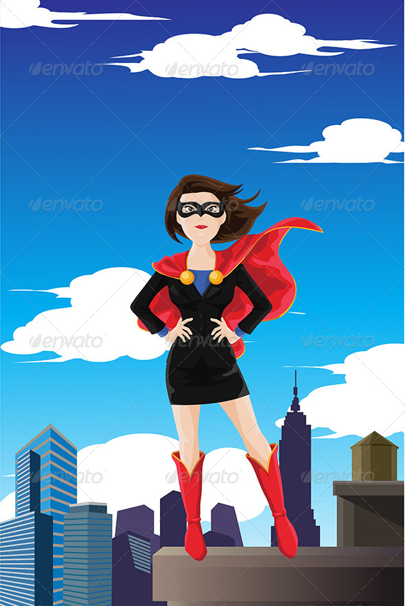 Superhero Businesswoman - Concepts Business