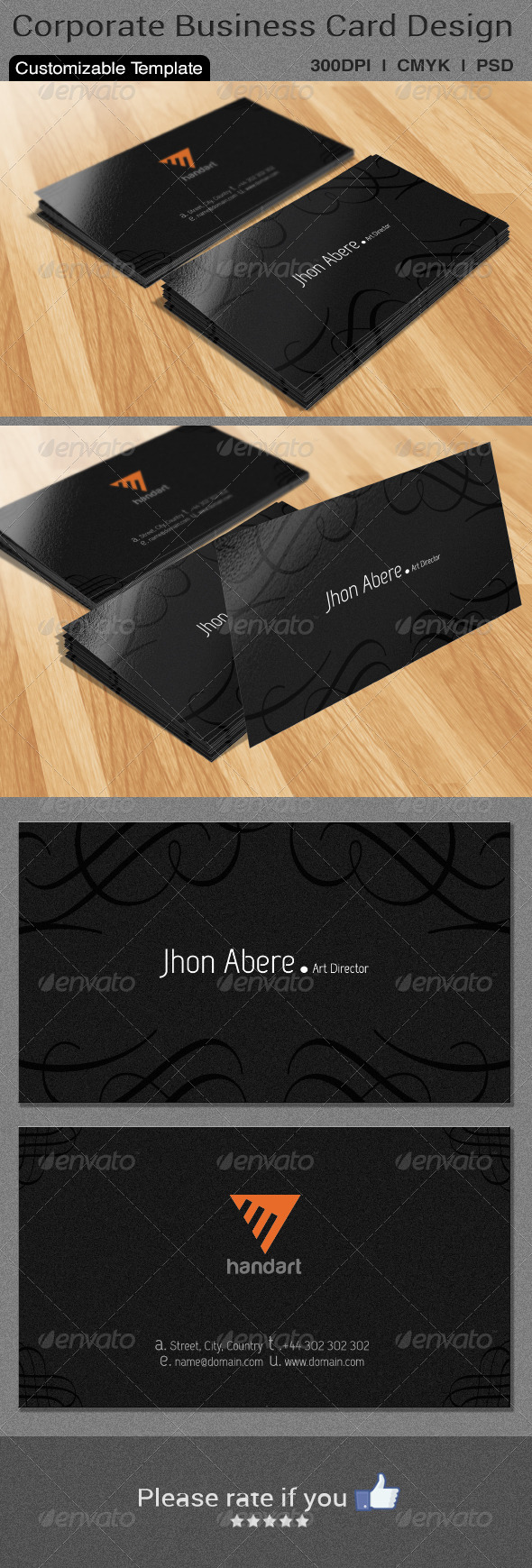 Classic Business Card Design - Corporate Business Cards