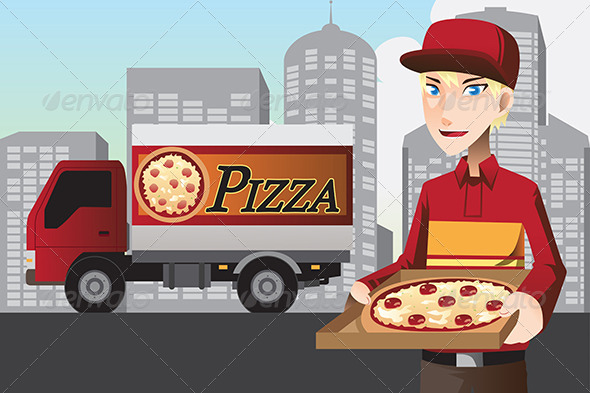 Pizza Delivery Man - Industries Business