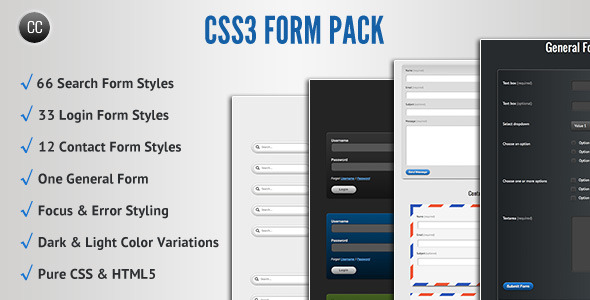CSS3 Form Pack - CodeCanyon Item for Sale
