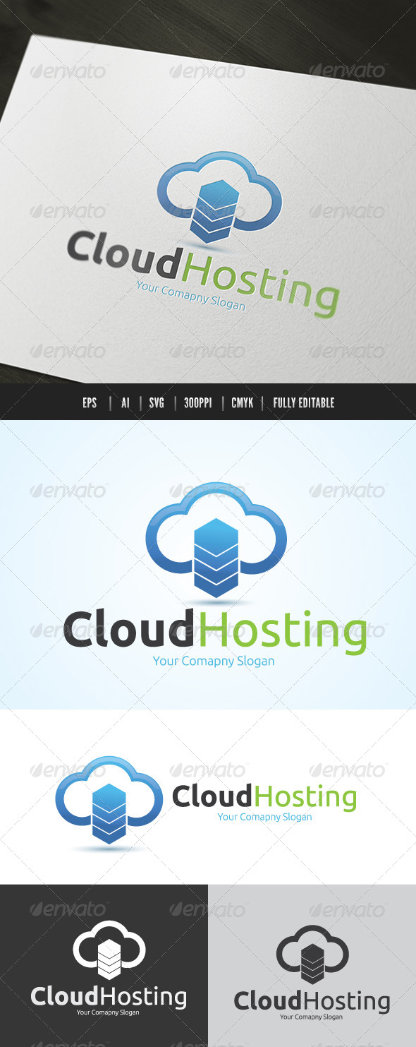 Cloud Server Logo - Nature Logo Templates