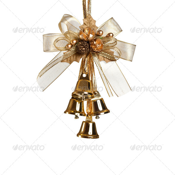 Christmas bells on white - Stock Photo - Images