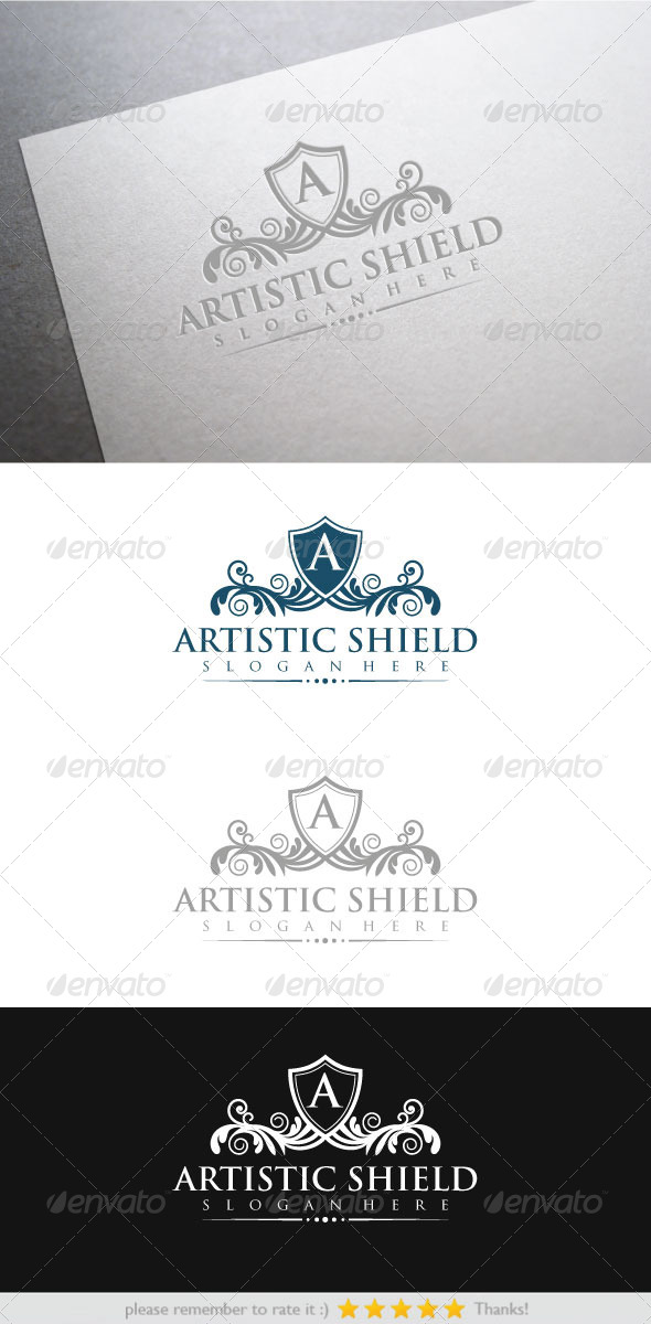 Artistic Shield - Crests Logo Templates