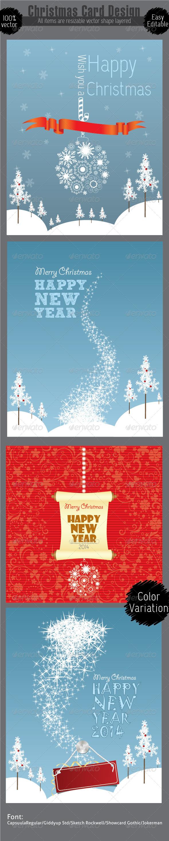 Christmas Card Design Template - Christmas Seasons/Holidays