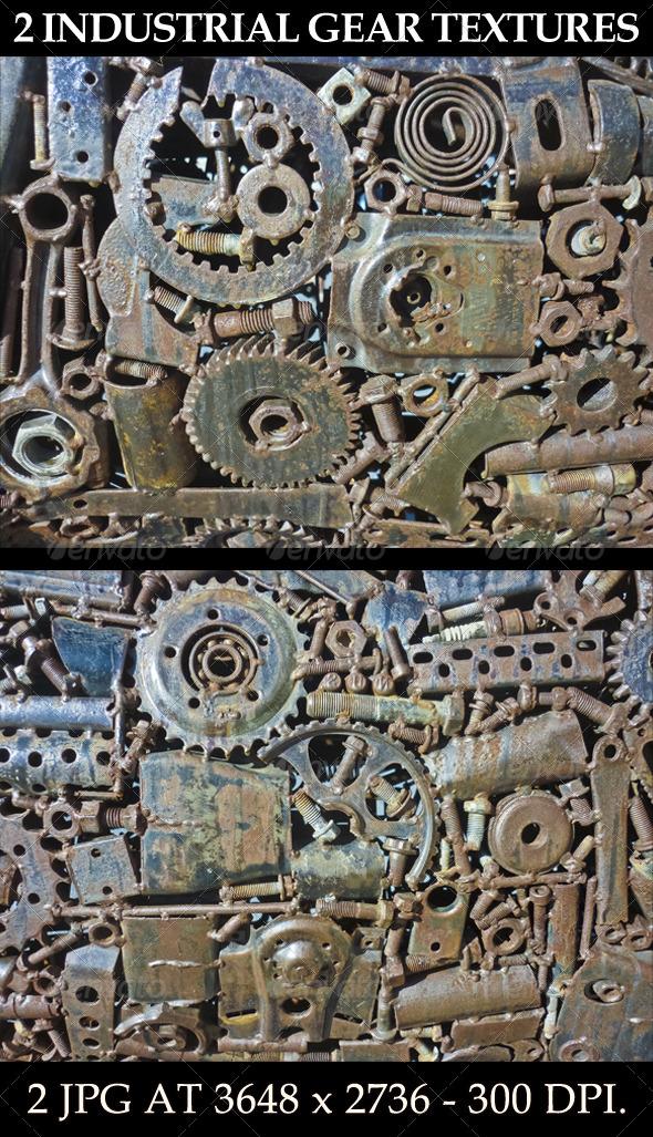 2 Industrial Gear Textures - Industrial / Grunge Textures