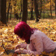 Young Girl with Laptop in Park - VideoHive Item for Sale