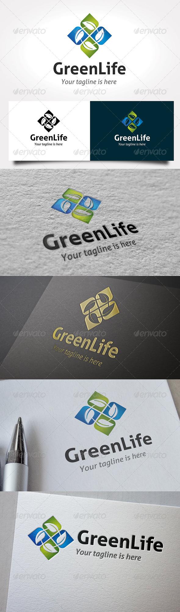Green Life Logo - 3d Abstract