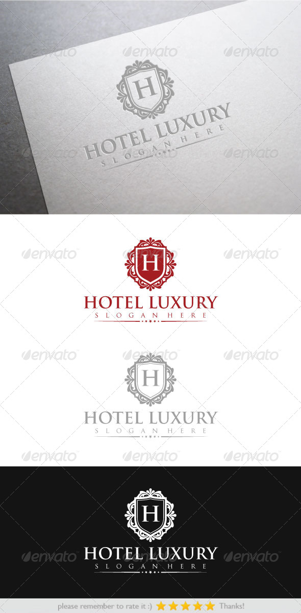 Hotel Luxury - Crests Logo Templates