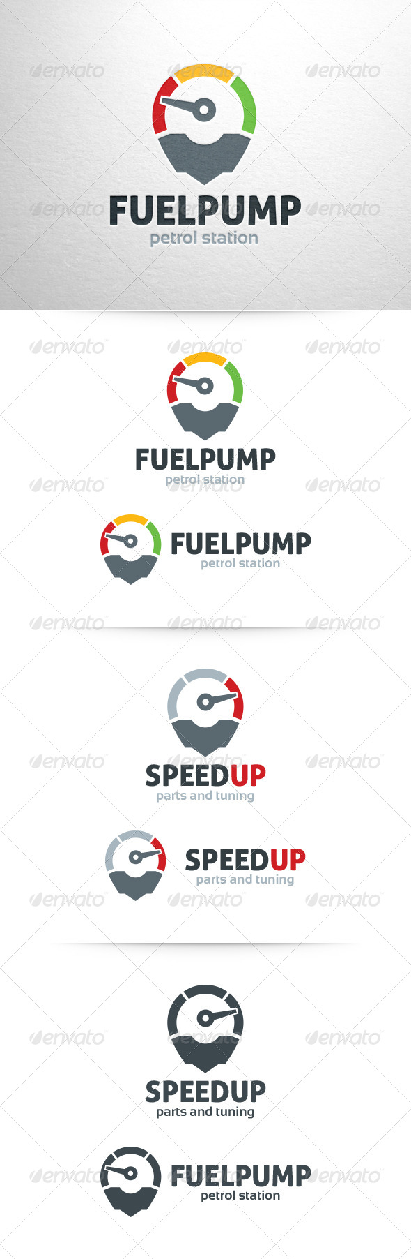 Fuel Pump / Speed Up Logo - Objects Logo Templates