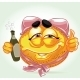 Drunk Smile with Pink Lingerie and Beer - GraphicRiver Item for Sale