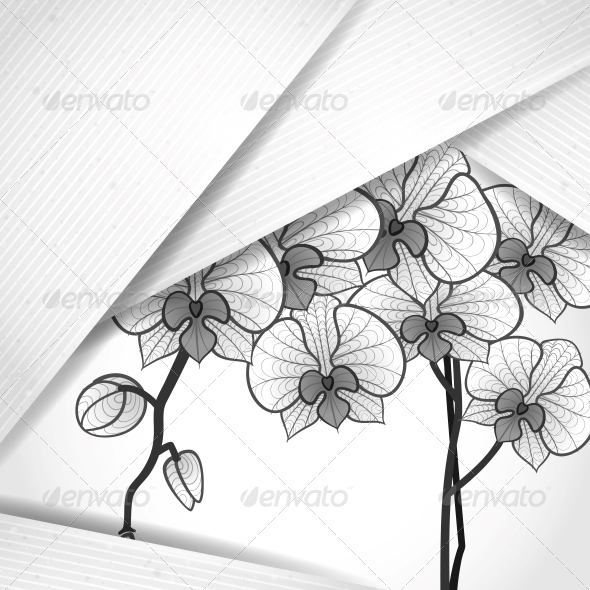 Abstract Background with White Paper Layers - Patterns Decorative