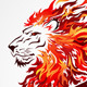 Tribal Flame Lion - GraphicRiver Item for Sale
