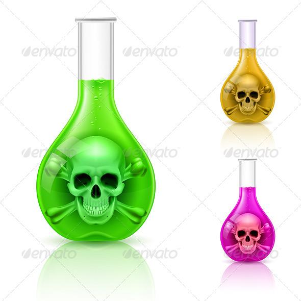 Vials with Poison - Miscellaneous Vectors