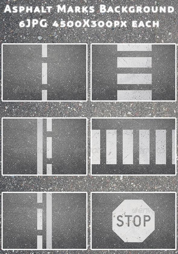 Asphalt Marks Background - Backgrounds Graphics