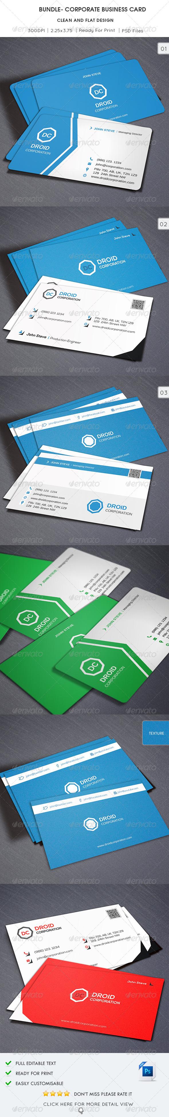 Bundle - Corporate Business Card - Corporate Business Cards