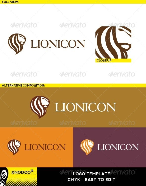 Lionicon Logo - Animals Logo Templates