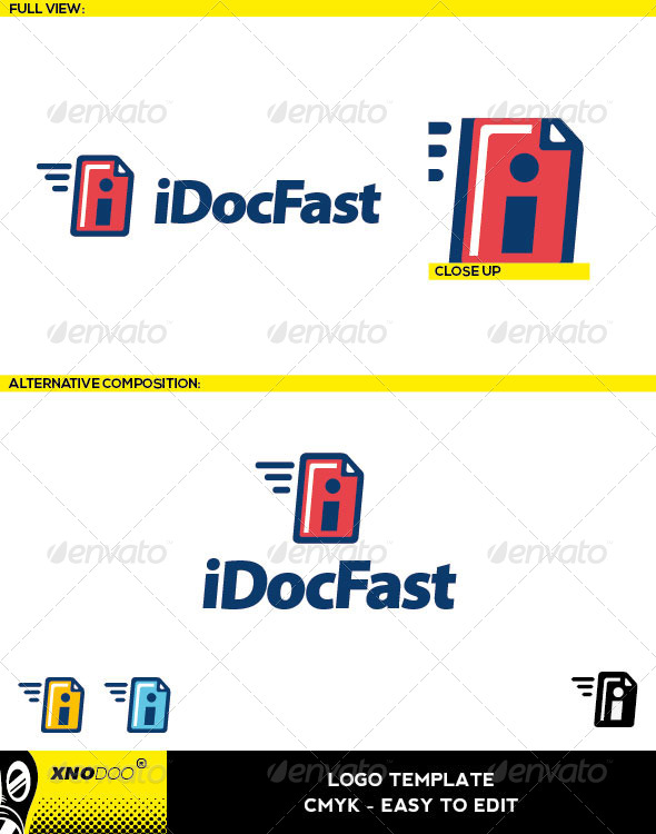 iDocFast Logo - Objects Logo Templates