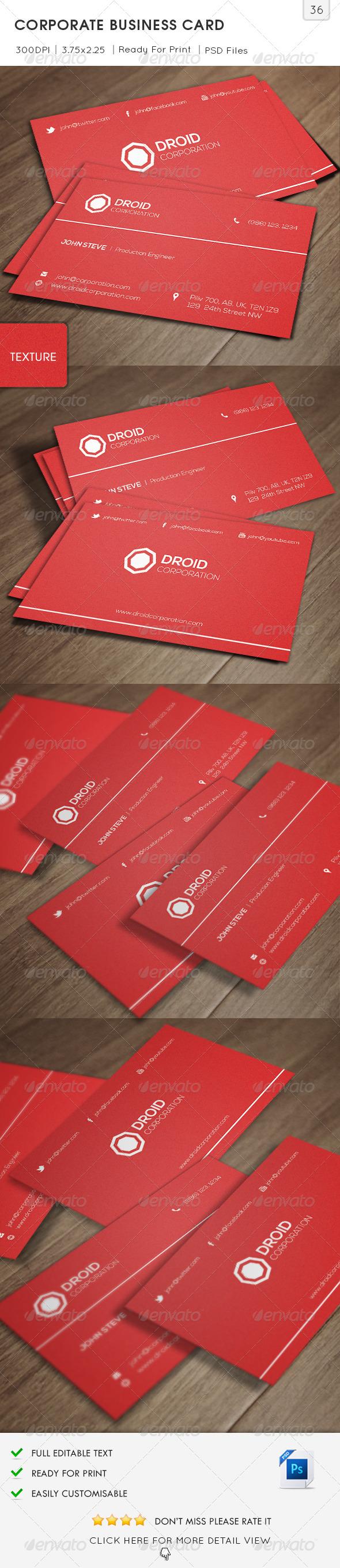 Corporate Business Card v36 - Corporate Business Cards
