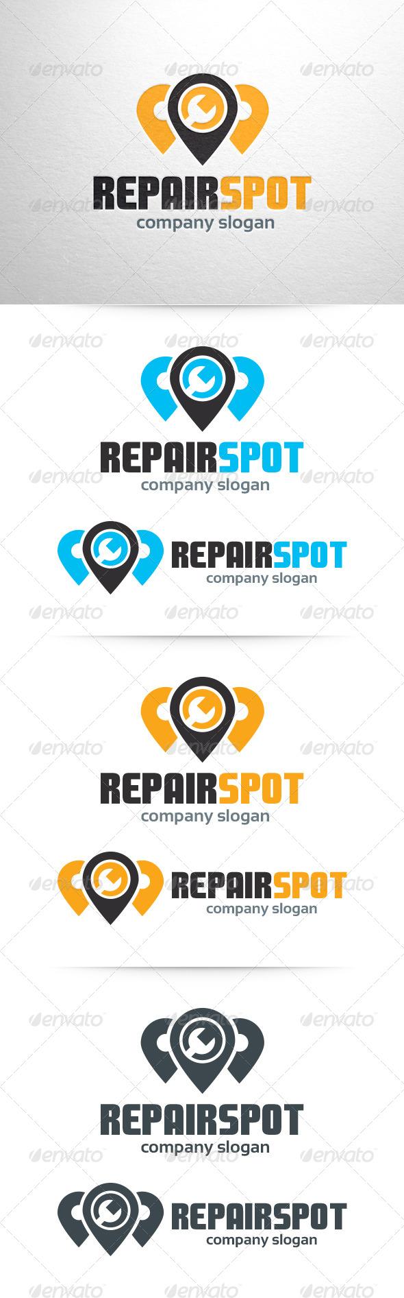 Repair Spot Logo Template - Symbols Logo Templates