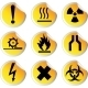 Glossy Stickers with Warning Signs Set 1 - GraphicRiver Item for Sale