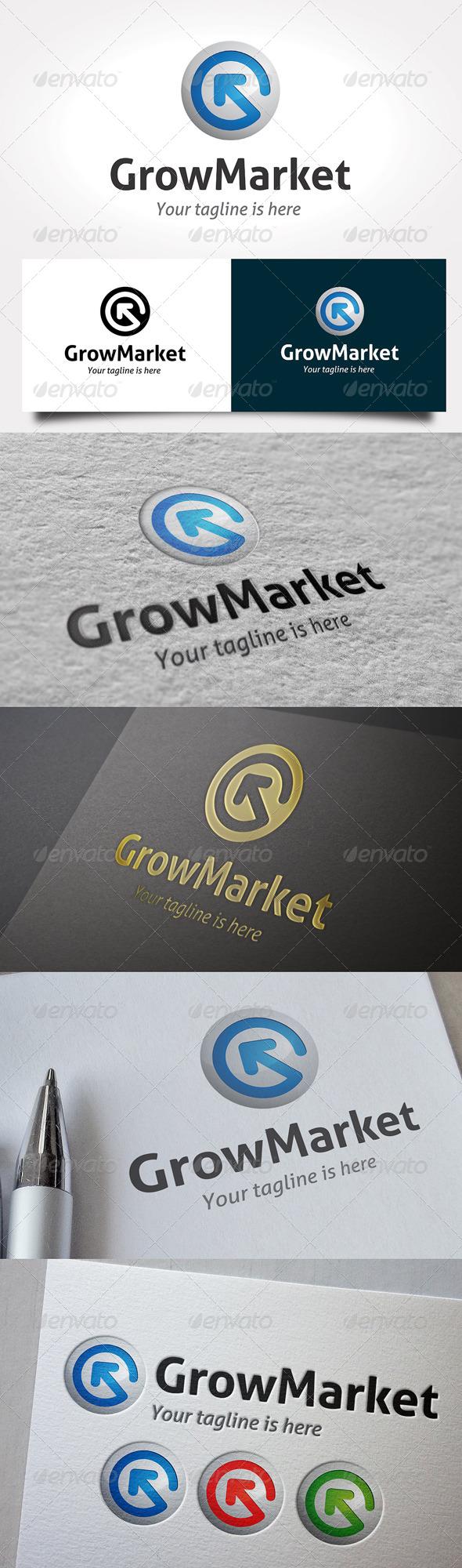 Grow Market Logo - Symbols Logo Templates