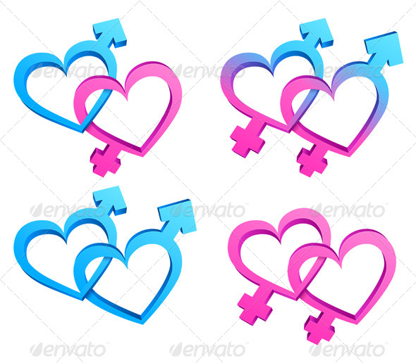 Gender Symbols - Abstract Conceptual