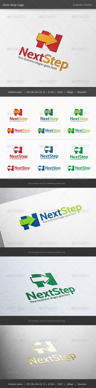 Next Step N Letter Logo - Letters Logo Templates