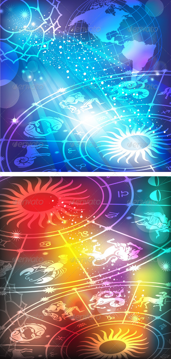 Backgrounds with a Horoscope - Backgrounds Decorative