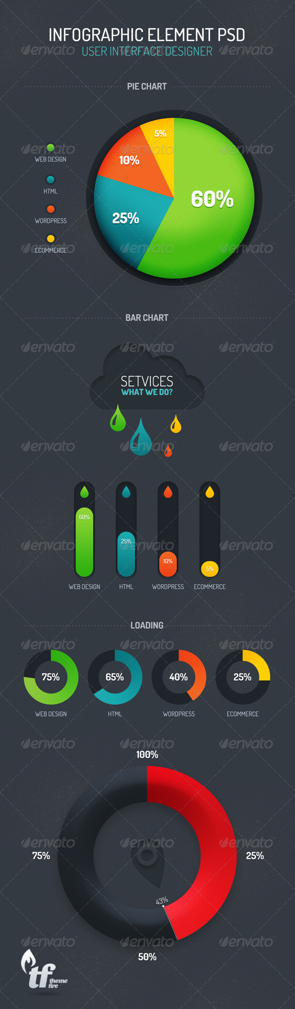 Infographic Element PSD - Infographics