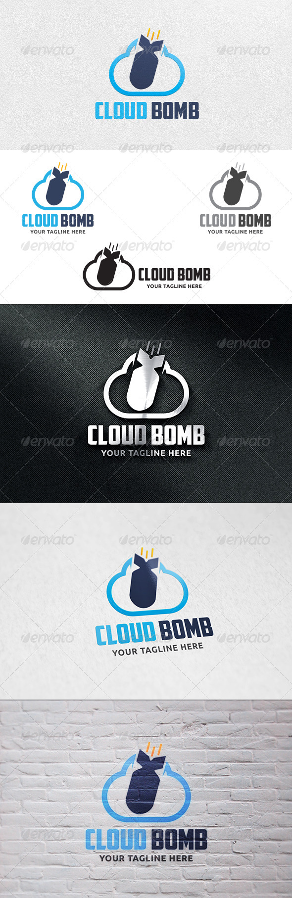 Cloud Bomb - Logo Template - Objects Logo Templates