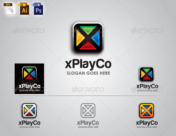 Corporate Logo Design - xPlayCo Logo - 3d Abstract