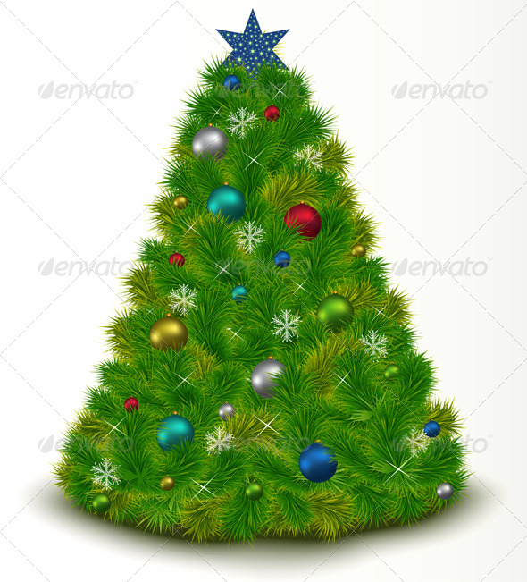 Christmas Tree with Toys - Christmas Seasons/Holidays