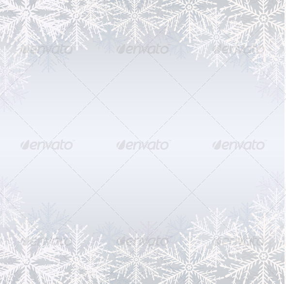 Winter Background with White Snowflakes - Christmas Seasons/Holidays