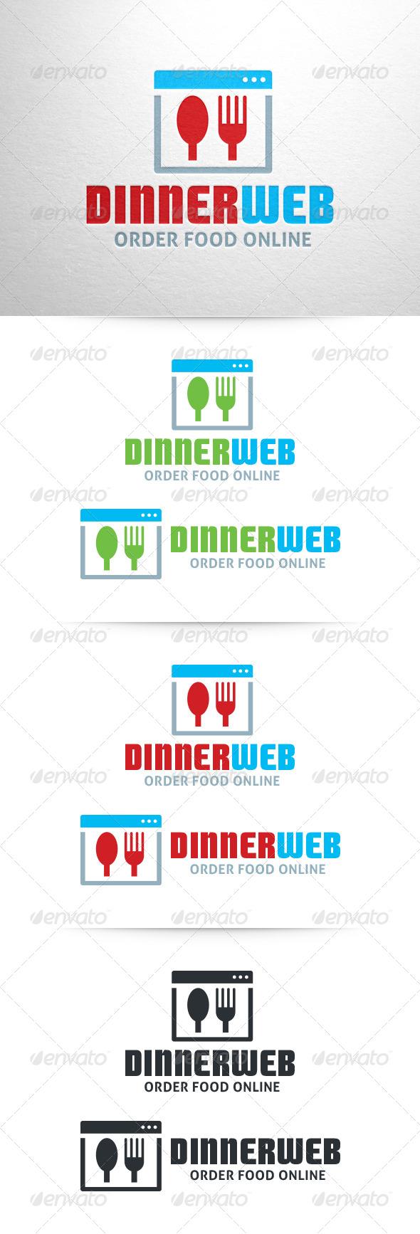 Dinner Web Logo Template - Food Logo Templates