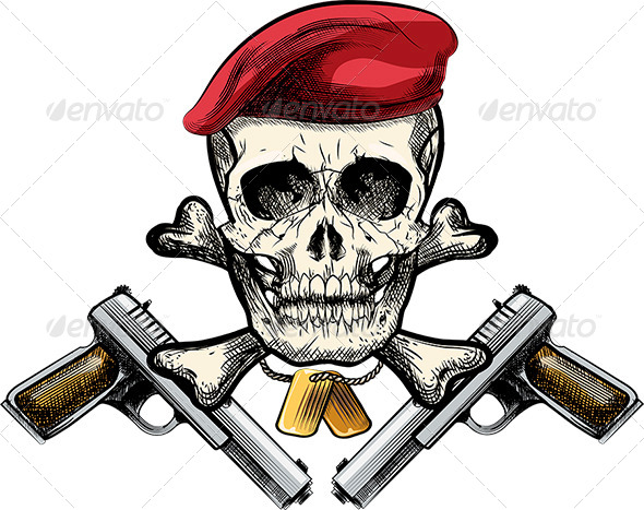 Skull in the Beret - Characters Vectors