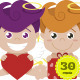 Cupids with Hearts, Gifts and Envelopes - GraphicRiver Item for Sale