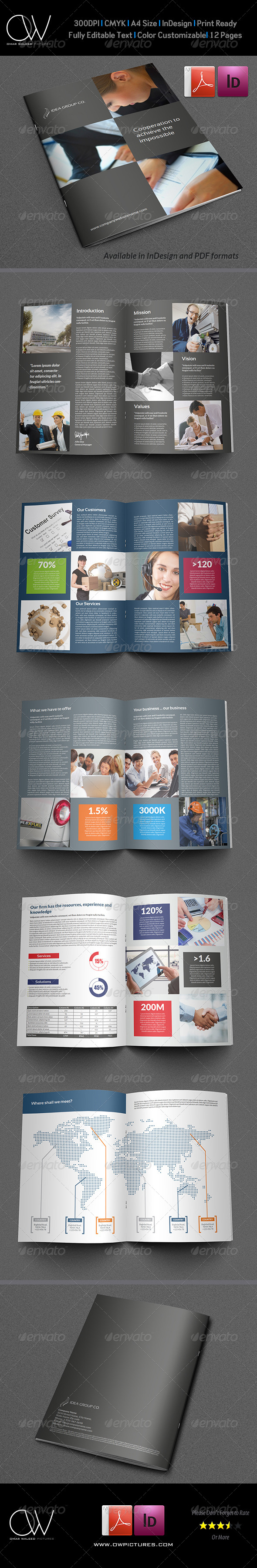 Corporate Brochure Template Vol.17 - 12 Pages - Corporate Brochures