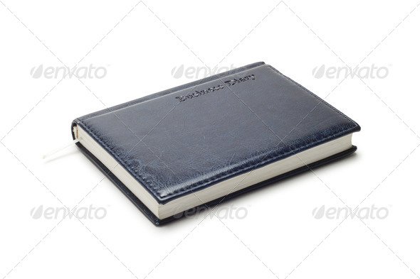 Business Diary Isolated Over White - Stock Photo - Images
