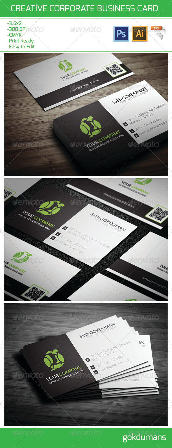 Creative Corporate Business Card 21 - Corporate Business Cards