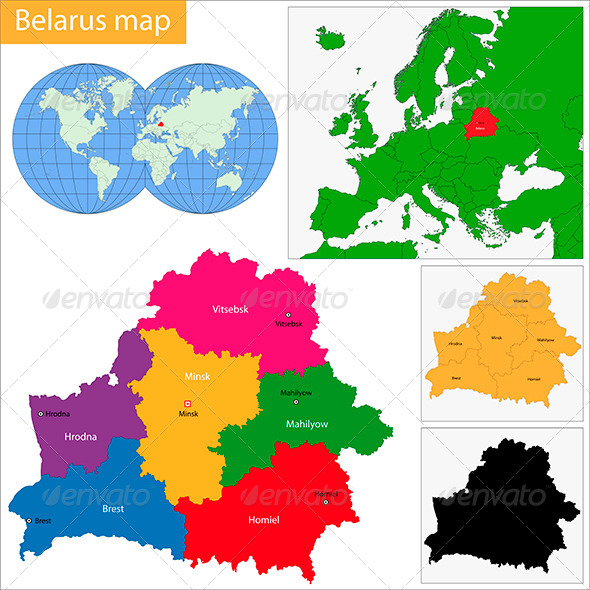Belarus Map - Travel Conceptual