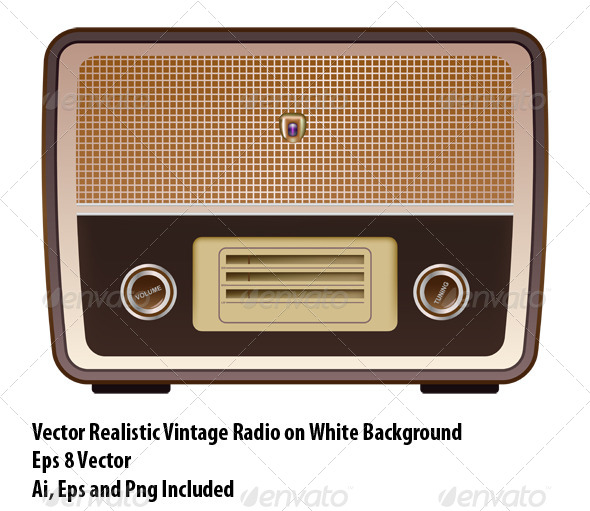 Vintage Radio - Objects Vectors