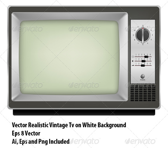 Vintage Tv - Objects Vectors