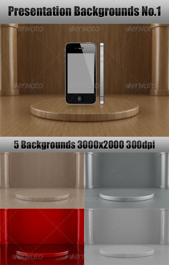 Presentation Backgrounds No.1 - 3D Backgrounds