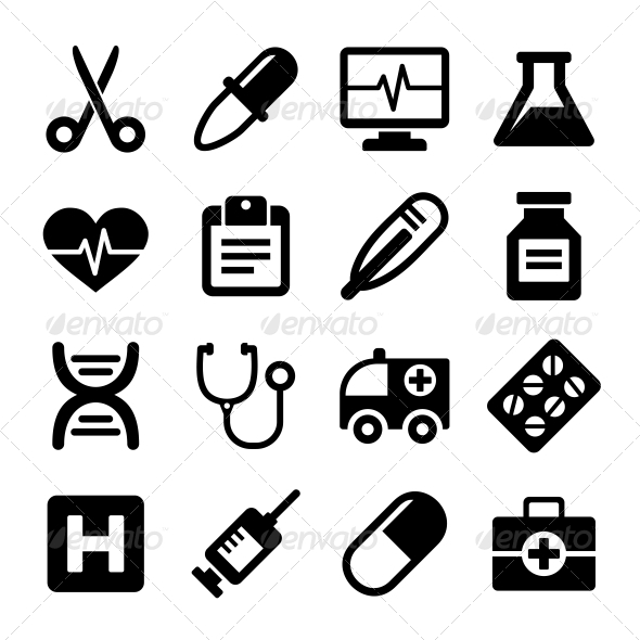 Medical Icons Set - Miscellaneous Icons