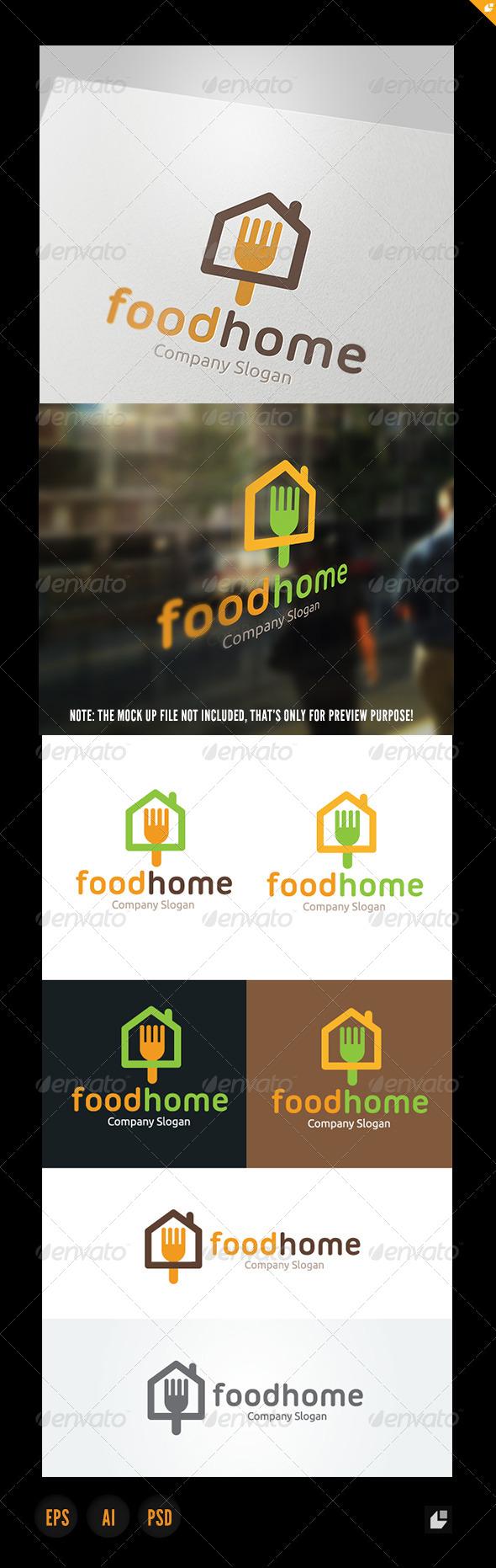 Food Home - Food Logo Templates