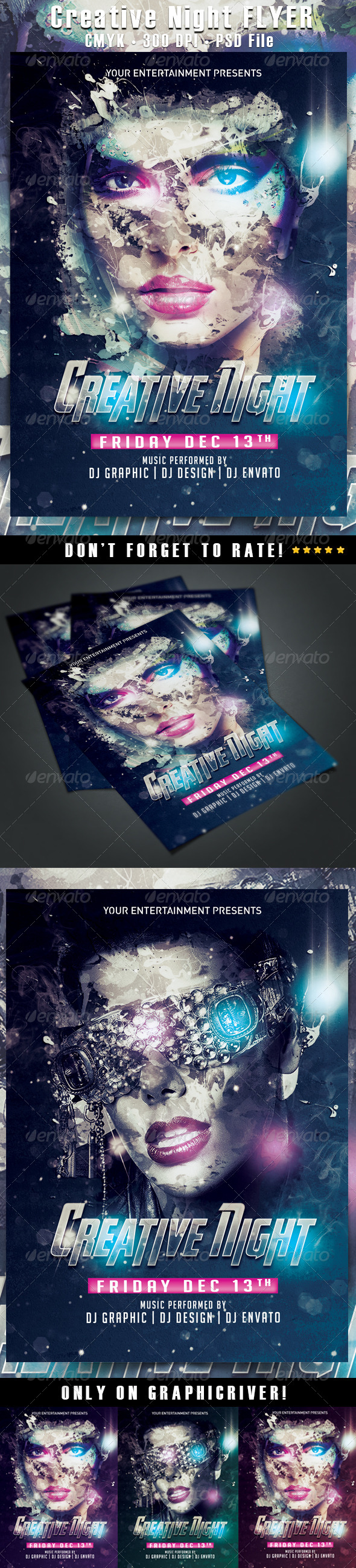 Creative Night Flyer - Clubs & Parties Events