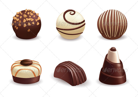 Chocolate Candies - Food Objects