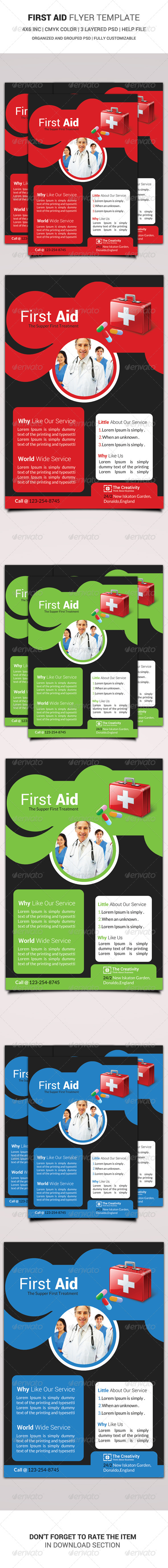 First Aid Flyer Template - Corporate Flyers
